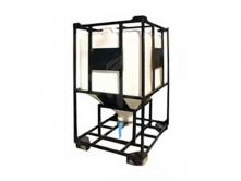 Бункер 1100 л для сыпучих продуктов с шибером КМГ1100МШК
