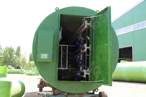 Канализационная насосная станция (КНС) из стеклопластика