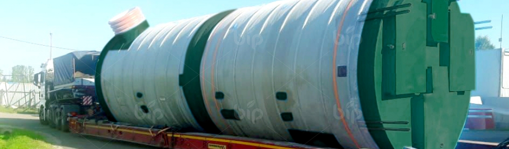 Комплектные насосные станции КНС в стеклопластиковой шахте