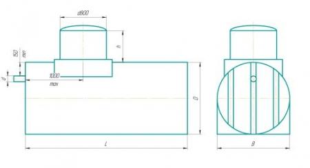 Схема горизонтального цилиндрического  исполнения