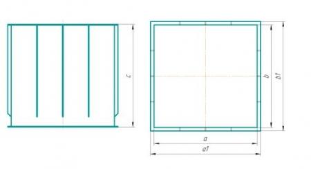 Схема прямоугольного исполнения (лист ПП, ПЭ)