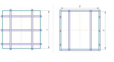 Схема прямоугольного исполнения в металлическом каркасе (лист ПП, ПЭ)