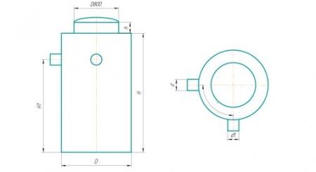 Схема вертикального цилиндрического исполнения