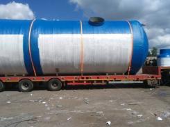 Горизонтальный резервуар для воды пожарный 100000 литров