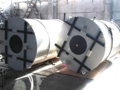 Резервуар цилиндрический для воды из полипропилена