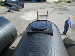 Колодец обслуживания резервуара для воды