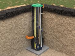 Канализационная насосная станция в пластиковом корпусе, в грунте