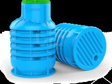 УСИЛЕННЫЙ Кессон для скважин пластиковый RODLEX-KS 2.0 (голубой)