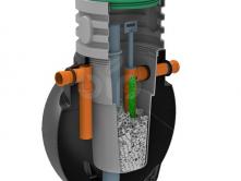 Септик с биофильтром BioBox -TOR 1500 для семьи из 3 человек