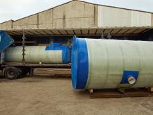 Емкость пожарная для воды из стеклопластика BipTank EN-PR15N наземная на ложементах