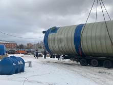 Резервуар пожарный из стеклопластика для воды 150 м3 - 150000 литров