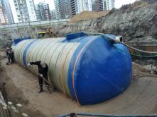 Емкость из стеклопластика для воды 150 куб.м. подземная