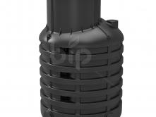 Кессон для скважин пластиковый Rodlex KS 1.0 с винтовой крышкой (черный)