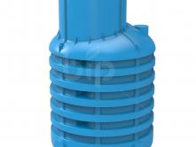 УСИЛЕННЫЙ Кессон для скважин Rodlex KS 1.0 с винтовой крышкой (голубой)