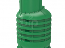 УСИЛЕННЫЙ Кессон для скважин пластиковый RODLEX-KS (зеленый) c пригрузочной юбкой