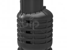 Кессон для скважин пластиковый RODLEX-KS 2.0 (черный) c пригрузочной юбкой