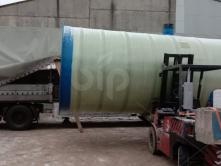 Пожарная емкость для воды из стеклопластика BipTank EN-PR25N (25м3) наземная на ложементах