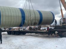 Пожарный резервуар 100м3 - 100000 литров BIPTANK из стеклопластика
