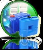 Емкости для воды пластиковые - прямоугольные и цилиндрические