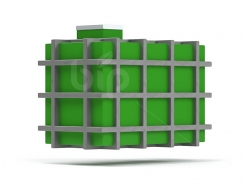 Резервуары для воды в металлическом каркасе